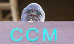 Tanzania's president John Magufuli addresses a rally by ruling party Chama Cha Mapinduzi (CCM)
