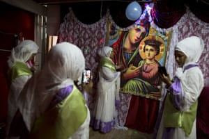 Tens of thousands of Eritrean migrants currently live in Israel. These makeshift churches are an integral part of their community, providing a spiritual escape from often hostile government immigration policies