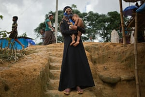 A 15-year-old child bride who was widowed when her husband became ill and died during their escape from Myanmar