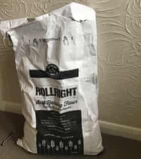 A 16kg bag of flour.