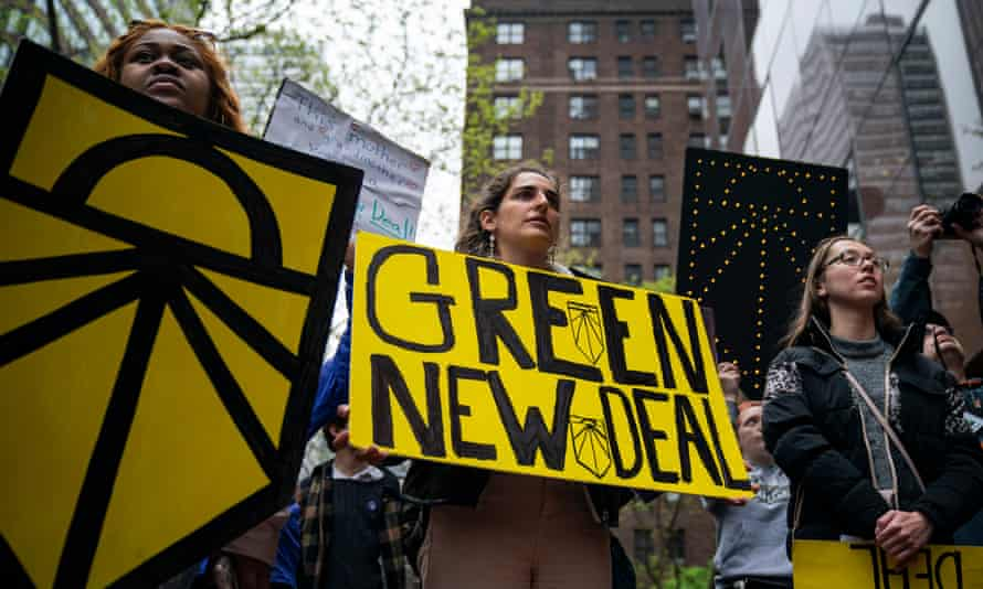 Climate activists in New York
