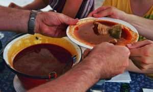 spicy halászlé fish soup