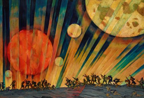 New Planet, 1921 by Konstantin Yuon.