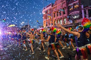 Participants during the 2019 Sydney Gay & Lesbian Mardi Gras Parade on March 02, 2019 in Sydney, Australia