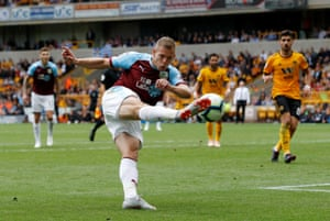 Vydra hits one at goal.