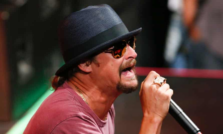 Kid Rock in New York on 5 May 2015. 'I guess the millions of dollars i pumped into that town was not enough,' he said of Detroit.