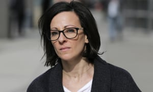 Lauren Salzman leaves Brooklyn federal court in NEw York on 29 January.