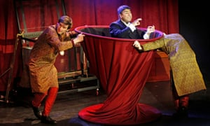 Jaw-dropping trickery … Nick Mohammed, centre, as Mr Swallow.