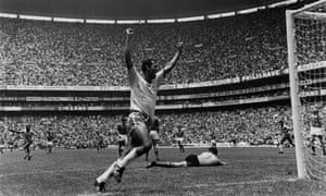 Carlos Alberto celebrating his 'perfect goal' against Italy in the World Cup final of 1970.