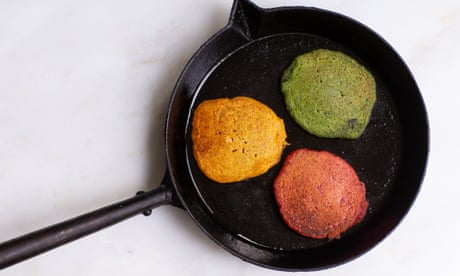 How to turn vegetable leftovers into rainbow pancakes