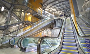 The inside of Leeds station's new southern entrance. More than 100,000 passengers pass through it each day, making it the UK's second busiest rail stop outside London.