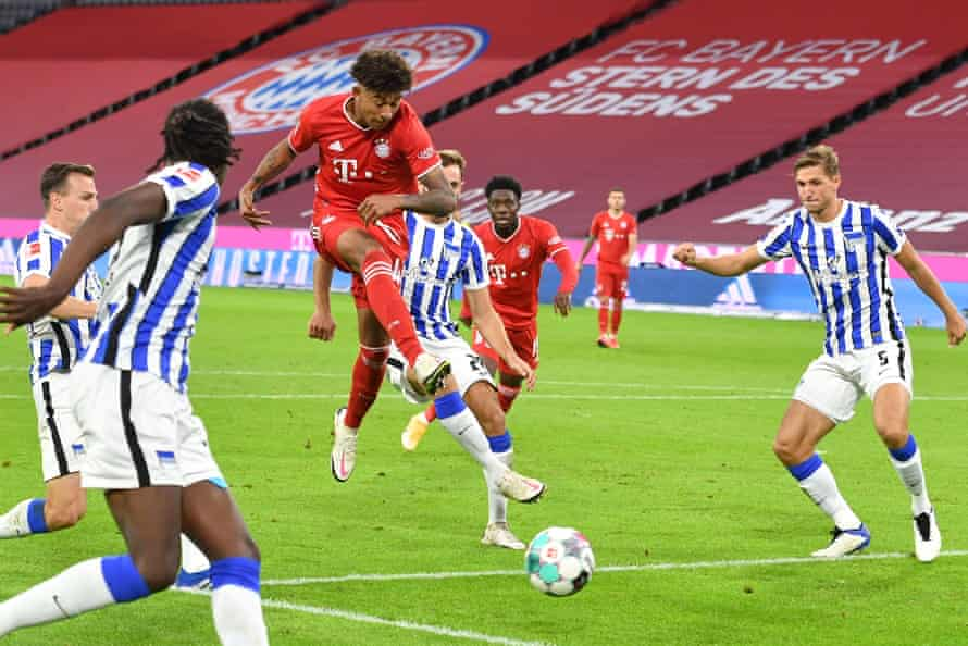 Chris Richards in action for Bayern against Hertha Berlin last year.