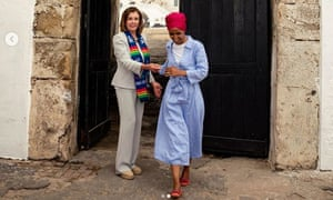 Ilhan Omar and Nancy Pelosi in Ghana.