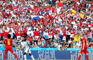 Panama's fans are enjoying this.