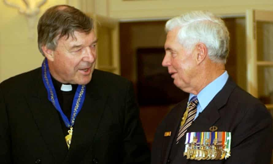 George Pell received the Order of Australia from then governor general Michael Jeffery in 2005. The cardinal stands to lose the honour if he loses his appeal.