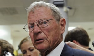 Republican and US senator James Inhofe: 'man can't change climate'.