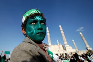 Sanaa, YemenA supporter of the Houthi movement attends a rally marking the birth anniversary of Prophet Mohammed