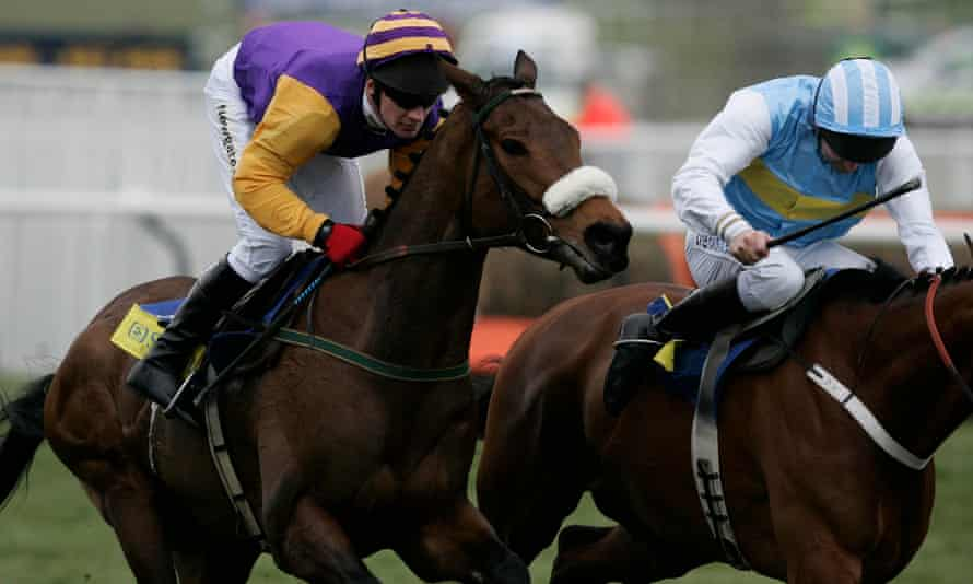 Paul Carberry waits to make his move on Harchibald in the 2005 Champion Hurdle