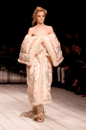 Alexander McQueen's eiderdown coat.