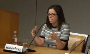 Alyssa Rosenberg during a Cato Institute debate on Game of Thrones.