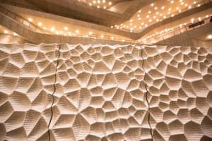 The Elbphilharmonie's sound-modulating 'white skin'.