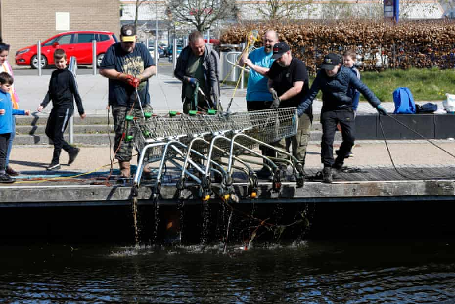 The Glasgow Magnet Fishing group pulled over forty shopping trolleys out of the Forth and Clyde Canal.
