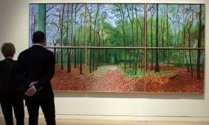 Hockney's Woldgate Woods, 24, 25 and 26 October, 2006.