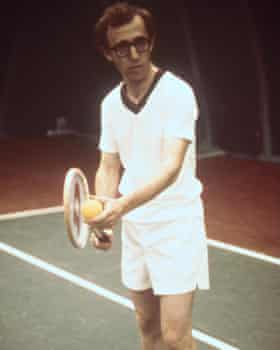 In athletic form on the tennis court in 1977