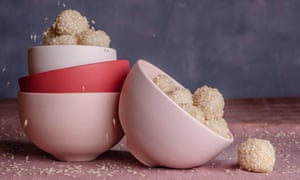 Glutinous rice balls/mochi by Ravneet Gill. 20 best easy puddings, styled Polly Webb-Wilson.