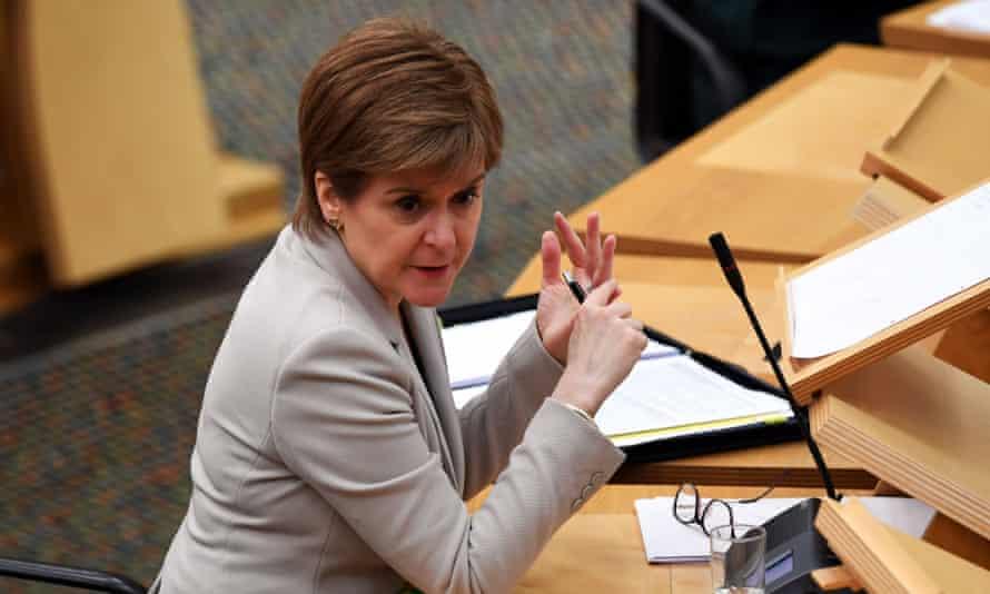 Scotland's first minister Nicola Sturgeon in Holyrood