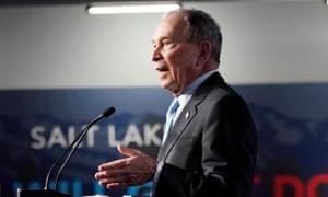 Mike Bloomberg at a rally in Utah this week.