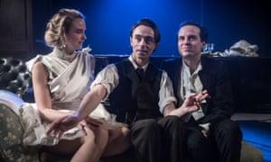 Joanna Vanderham, David Dawson and Andrew Scott in The Dazzle.