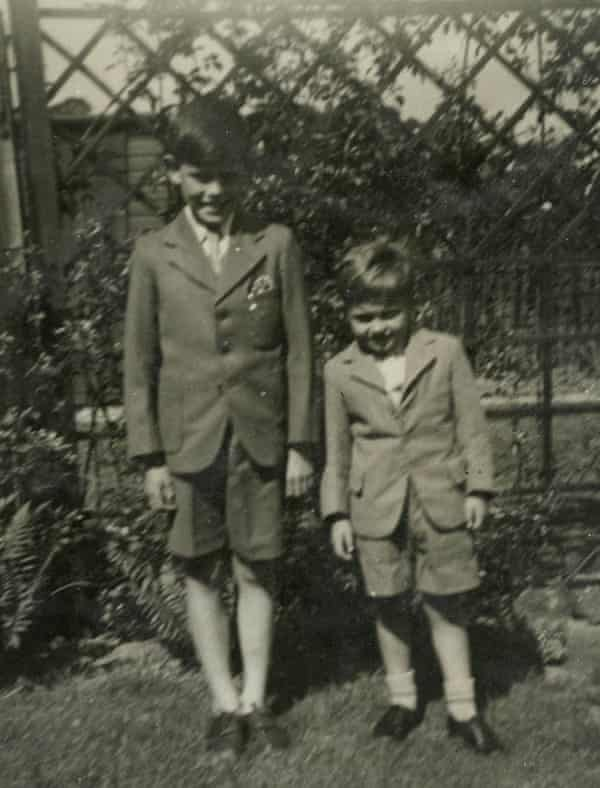 Tony, right, aged six, shortly after his parents' deaths, with his cousin Robert, who became his brother.