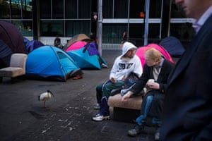 Everyday life in the so-called tent city