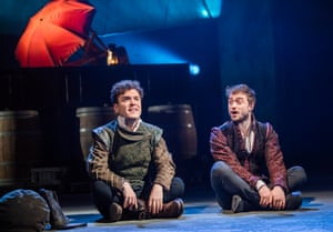 Joshua McGuire and Daniel Radcliffe in Rosencrantz and Guildenstern Are Dead at the Old Vic in London