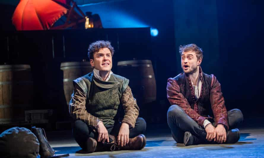 Not to be joking ... Joshua McGuire and Daniel Radcliffe in the title roles of Rosencrantz And Guildenstern Are Dead at this Old Vic in March 2017.