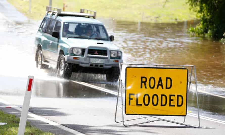 Some parts of Queensland recorded almost 100mm of rain on Tuesday evening.