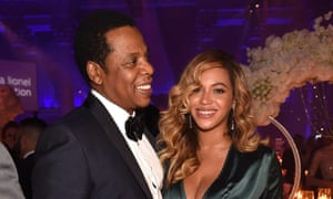 Jay-Z and Beyoncé at Rihanna's Diamond Ball earlier this month.