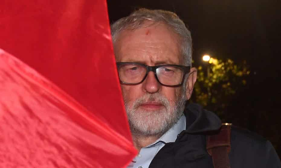 Former Labour leader Jeremy Corbyn last night after being suspended from the party