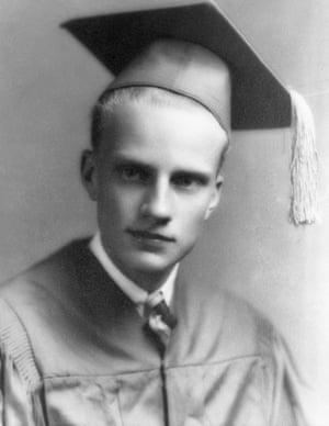 Graham in 1935 on his graduation from Charlotte high school, just after he'd embraced religion at a local revival meeting