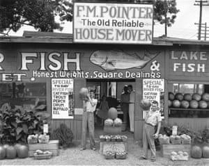 Roadside stand, near Birmingham, 1936 from A Vision Shared by Walker Evans.