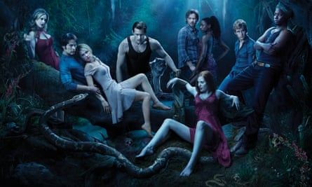 True Blood's cast from Season 3.