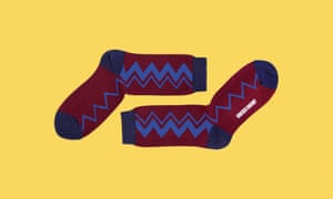 Cotton zig-zag socks