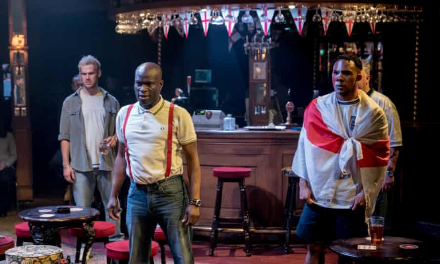 All in the game: the Chichester festival production of Sing Yer Heart Out for the Lads, 2019.