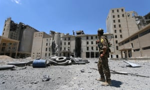 The Syrian Observation for Human Rights pegged the civilian death toll from the latest coalition airstrike near Manbij at at least 28 people.