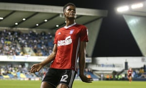 Jordan Spence celebrates after his late header secured a third consecutive league win for Ipswich.