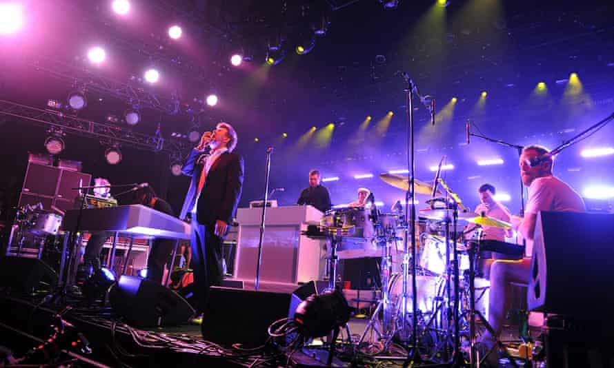 Farewell, but not for long … LCD Soundsystem at Madison Square Garden, New York, in 2011.