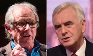 Ken Loach, left, and John McDonnell