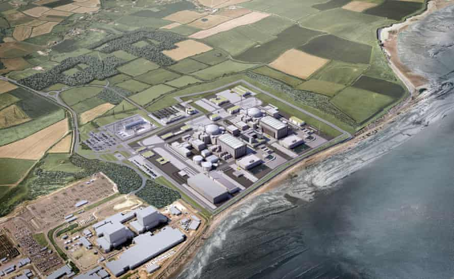 An artist's impression of the proposals for Hinkley Point C.