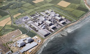 An artist's impression of the twin Hinkley Point C reactors